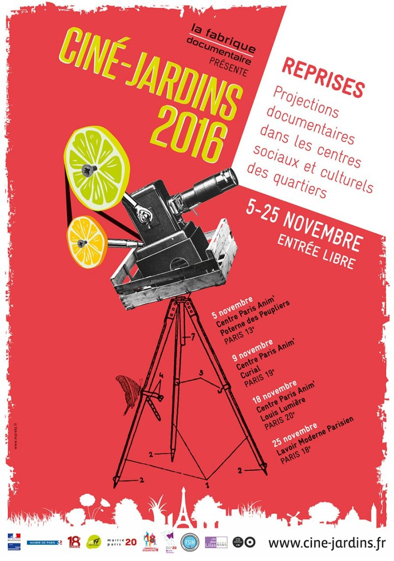 Mois du film documentaire 2016 la fabrique documentaire for Jardin du michel 2016 programmation