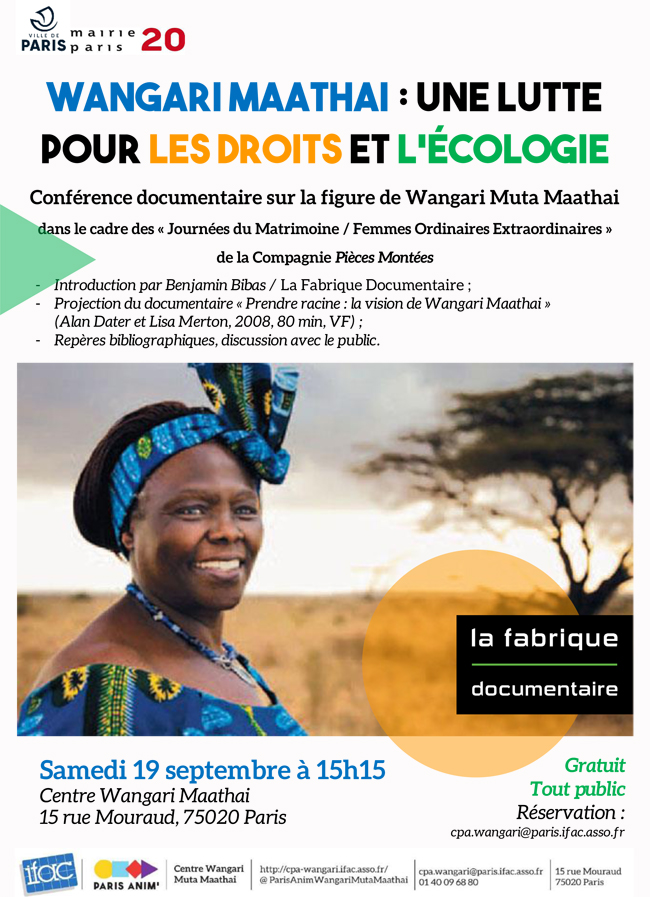 Projection Wangari Maathai 19 sept 2020